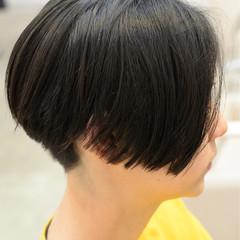 ショートボブ ナチュラル ボブ 黒髪 ヘアスタイルや髪型の写真・画像
