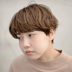 ショート 外国人風 前髪あり ハイライト ヘアスタイルや髪型の写真・画像