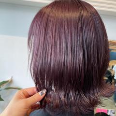 ラベンダーカラー ラベンダー ブリーチ ボブ ヘアスタイルや髪型の写真・画像