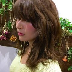 セミロング 大人かわいい フェミニン ガーリー ヘアスタイルや髪型の写真・画像