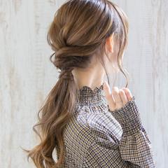 デート 簡単ヘアアレンジ ヘアアレンジ エレガント ヘアスタイルや髪型の写真・画像