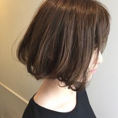 ワンカール ボブ ミディアム 暗髪 ヘアスタイルや髪型の写真・画像