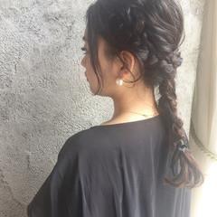 エレガント 編み込み ウェーブ ヘアアレンジ ヘアスタイルや髪型の写真・画像