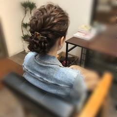 アップ アップスタイル ヘアアレンジ ねじり ヘアスタイルや髪型の写真・画像