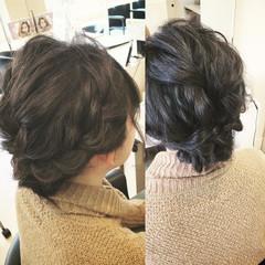 セミロング 謝恩会 二次会 ゆるふわ ヘアスタイルや髪型の写真・画像