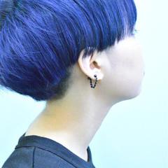 ブリーチ 暗髪 ショート 刈り上げ ヘアスタイルや髪型の写真・画像