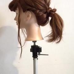 セミロング ゆるふわ 簡単ヘアアレンジ ヘアアレンジ ヘアスタイルや髪型の写真・画像