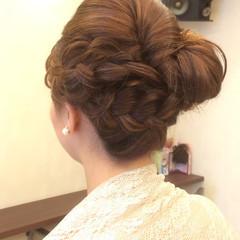 まとめ髪 パーティ 結婚式 ブライダル ヘアスタイルや髪型の写真・画像