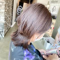 モード マッシュウルフ ブリーチカラー ウルフカット ヘアスタイルや髪型の写真・画像