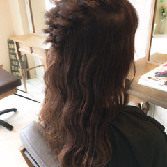 ミディアム デート ヘアアレンジ 結婚式 ヘアスタイルや髪型の写真・画像