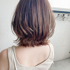 切りっぱなしボブ ミニボブ 透明感カラー インナーカラー ヘアスタイルや髪型の写真・画像