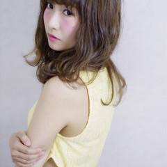 大人かわいい フェミニン ブラウン ミディアム ヘアスタイルや髪型の写真・画像