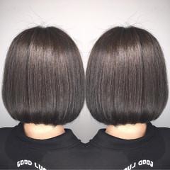 ショート ボーイッシュ アッシュ モード ヘアスタイルや髪型の写真・画像