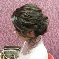 ミディアム エレガント 編み込み 結婚式 ヘアスタイルや髪型の写真・画像