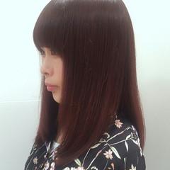 リラックス セミロング 秋 大人かわいい ヘアスタイルや髪型の写真・画像