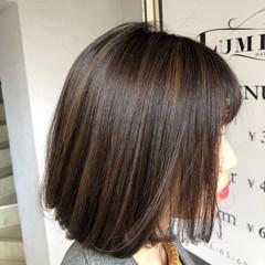ヘアアレンジ 秋冬スタイル ハイライト オフィス ヘアスタイルや髪型の写真・画像