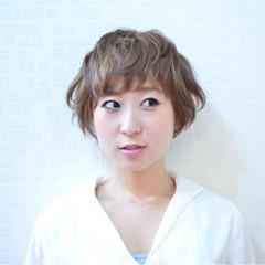 ショート 似合わせ フェミニン ナチュラル ヘアスタイルや髪型の写真・画像