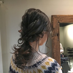 簡単ヘアアレンジ ロング 透明感 冬 ヘアスタイルや髪型の写真・画像