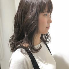 シースルーバング アンニュイ 透明感 フェミニン ヘアスタイルや髪型の写真・画像