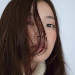 ストレート 大人かわいい ロング ナチュラル ヘアスタイルや髪型の写真・画像