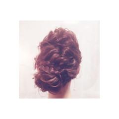 ロング 簡単ヘアアレンジ フェミニン 大人かわいい ヘアスタイルや髪型の写真・画像