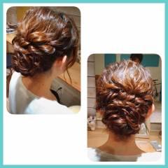 ヘアアレンジ 大人かわいい アップスタイル パーティ ヘアスタイルや髪型の写真・画像