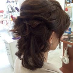 ハーフアップ 簡単ヘアアレンジ ボブ ショート ヘアスタイルや髪型の写真・画像