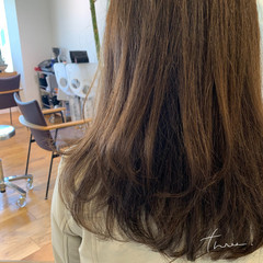 ワンカールパーマ 大人ハイライト ナチュラル セミロング ヘアスタイルや髪型の写真・画像