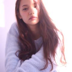 大人女子 艶髪 セミロング リラックス ヘアスタイルや髪型の写真・画像