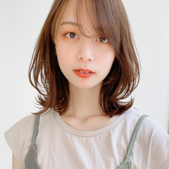アンニュイほつれヘア ミディアムレイヤー デート ミディアム ヘアスタイルや髪型の写真・画像