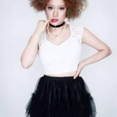 オレンジ カラフルカラー イエロー かわいい ヘアスタイルや髪型の写真・画像