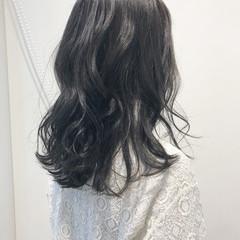ロング ロブ フェミニン 大人かわいい ヘアスタイルや髪型の写真・画像