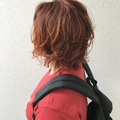 ミディアム ストリート マッシュ ウルフカット ヘアスタイルや髪型の写真・画像