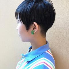 刈り上げ 大人女子 ベリーショート 小顔 ヘアスタイルや髪型の写真・画像
