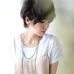 ショート ナチュラル ピュア 黒髪 ヘアスタイルや髪型の写真・画像