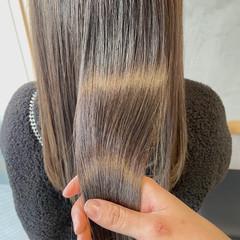 艶髪 ハイライト 透明感 縮毛矯正 ヘアスタイルや髪型の写真・画像