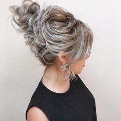 結婚式 簡単ヘアアレンジ エレガント ロング ヘアスタイルや髪型の写真・画像
