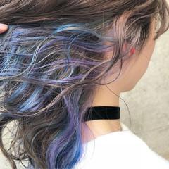 外国人風カラー グラデーションカラー ストリート ダブルカラー ヘアスタイルや髪型の写真・画像