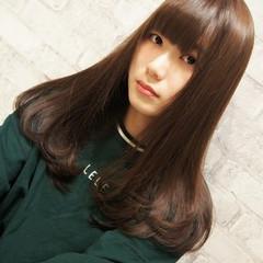 セミロング ナチュラル 艶髪 透明感 ヘアスタイルや髪型の写真・画像