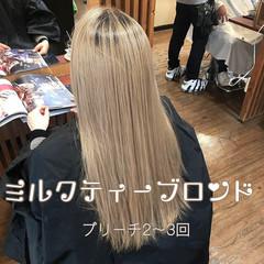 ミルクティーベージュ ミルクティー エレガント 結婚式 ヘアスタイルや髪型の写真・画像