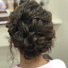 結婚式ヘアアレンジ 可愛い ヘアアレンジ ミディアム ヘアスタイルや髪型の写真・画像