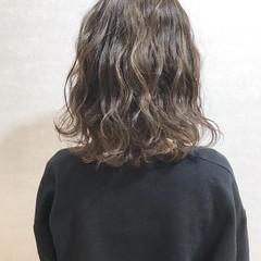 ガーリー ミディアム 簡単ヘアアレンジ ピンクラベンダー ヘアスタイルや髪型の写真・画像