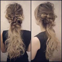 モテ髪 編み込み コンサバ 愛され ヘアスタイルや髪型の写真・画像
