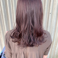 波ウェーブ 赤髪 ロング レッドブラウン ヘアスタイルや髪型の写真・画像