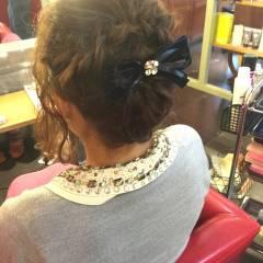 ヘアアレンジ ショート 編み込み アップスタイル ヘアスタイルや髪型の写真・画像