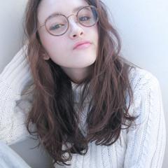 外国人風 ブリーチ パーマ ロング ヘアスタイルや髪型の写真・画像
