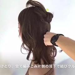 ヘアアレンジ 可愛い ふんわり 大人女子 ヘアスタイルや髪型の写真・画像