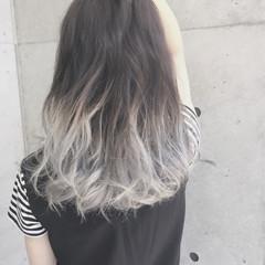 外国人風 アッシュ ホワイト 渋谷系 ヘアスタイルや髪型の写真・画像