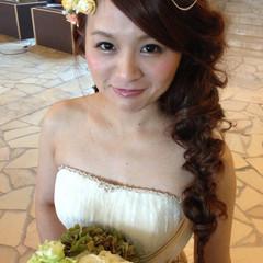 結婚式 モテ髪 ヘアアレンジ ブライダル ヘアスタイルや髪型の写真・画像