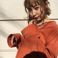 アンニュイ ナチュラル ヘアアレンジ ミディアム ヘアスタイルや髪型の写真・画像